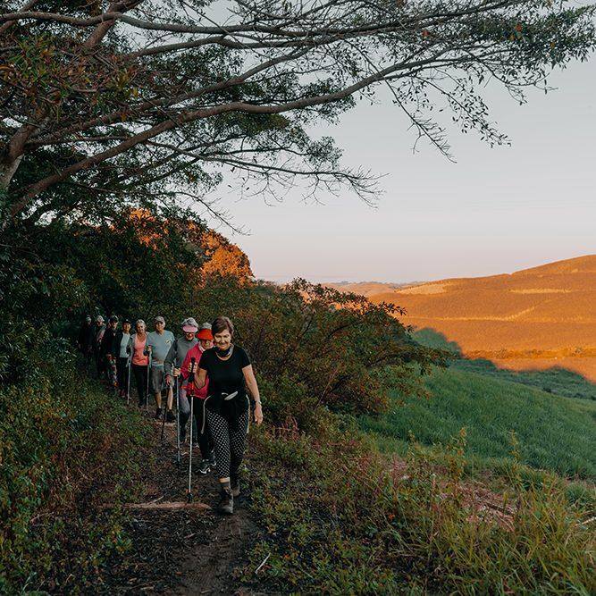 Renishaw Hills' residents enjoying a nature trail