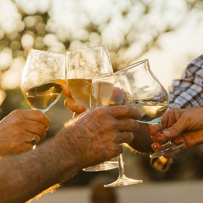 Retirement relaxing cheers